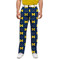 Men's Loudmouth Michigan Wolverines Golf Pants