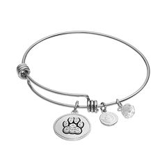 love this life Crystal 'I Love My Dog' Charm Bangle Bracelet