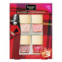 butter LONDON Glazed & Gorgeous 4-pc. Glazen Nail Lacquer Set