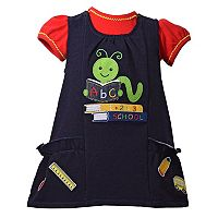 Toddler Girl Bonnie Jean Bookworm Jumper & Bodysuit Set