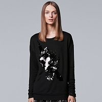 Women's Simply Vera Vera Wang 10th Anniversary Embellished Statement Sweatshirt