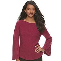 Women's ELLE™ Ribbed Boatneck Sweater