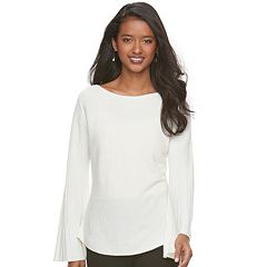 Women's ELLE™ Ribbed Boatneck Sweater