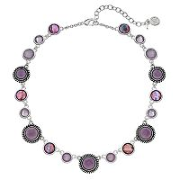 Dana Buchman Round Stone Station Necklace