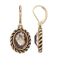Dana Buchman Oval Nickel Free Drop Earrings