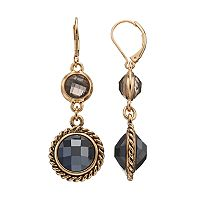 Dana Buchman Double Round Nickel Free Linear Drop Earrings