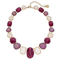 Dana Buchman Graduated Purple Geometric Stone Necklace