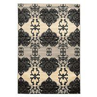 Linon Elegance Cybil Damask Rug
