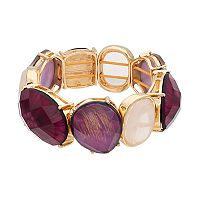 Dana Buchman Purple Geometric Stretch Bracelet