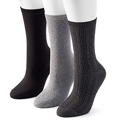 Women's SONOMA Goods for Life™ 3 pkSolid Crew Socks