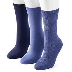 Women's SONOMA Goods for Life™ 3 pkSolid Crew Socks