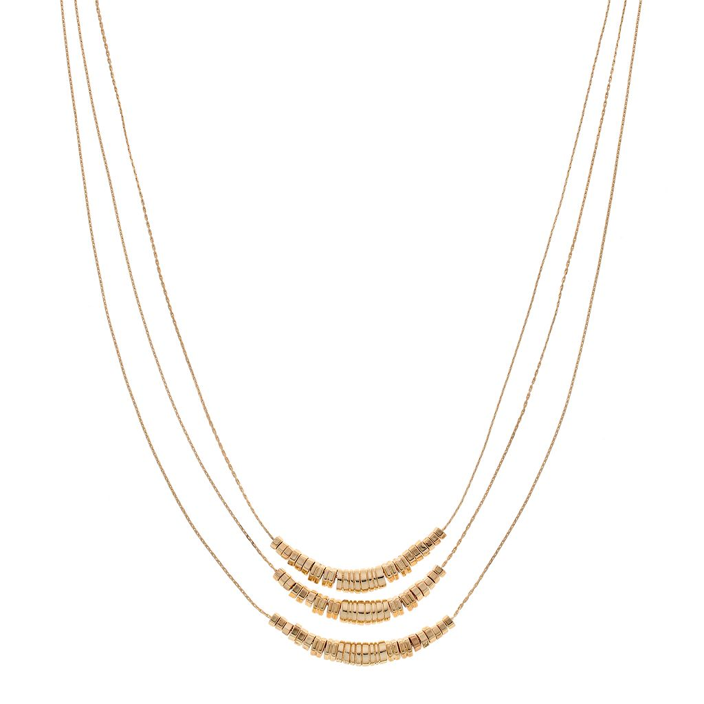 Dana Buchman Long Hexagonal Bead Layered Necklace