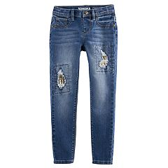 Girls 4-12 SONOMA Goods for Life™ Sequin Rip Jeans