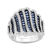Sterling Silver Lab-Created Blue Spinel & Lab-Created White Sapphire Ring