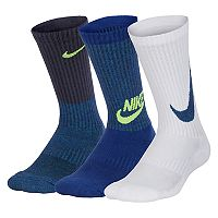 Boys 4-20 Nike 3-Pack Performance Crew Socks