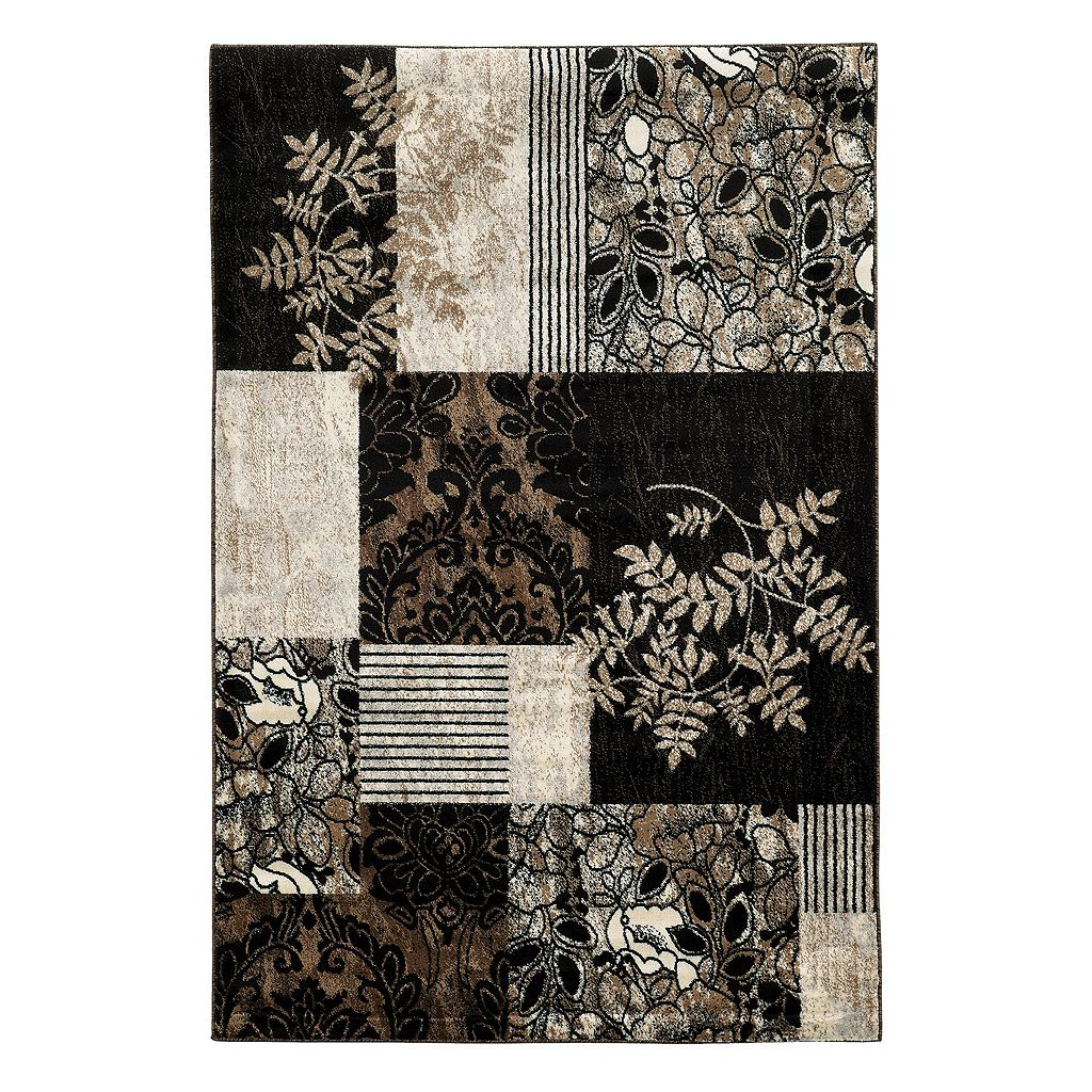 Linon Elegance Marble Patchwork Rug