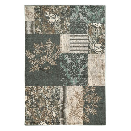Linon Elegance Marble Patchwork Rug
