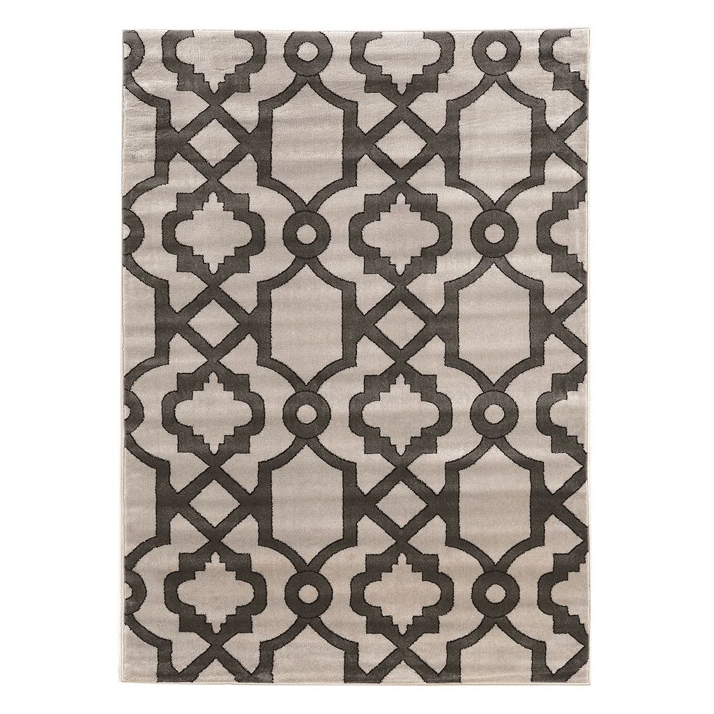 Linon Elegance Geo Lattice Rug