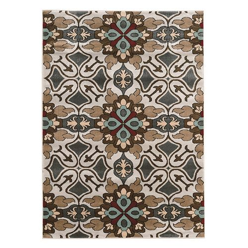 Linon Elegance Lily Floral Rug