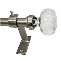 North Branch Crackle Glass Knob Adjustable Curtain Rod