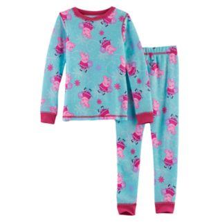Toddler Girl Cuddl Duds Peppa Pig 2-pc.Thermal Base Layer Top & Pants Set