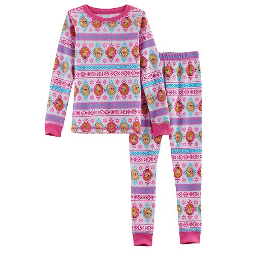 Disney's Frozen Toddler Girl 2-pc. Elsa & Anna Thermal Base Layer Top & Pants Set by Cuddl Duds