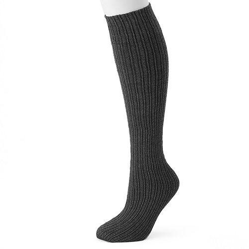 Women's Apt. 9® Heather Sweater Cable Knee High Socks
