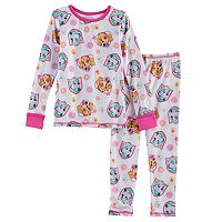 Toddler Girl Cuddl Duds 2-pc. Paw Patrol Skye & Everest Base Layer Top & Pants Set
