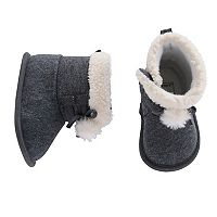 Baby Carter's Knit Pom Bootie Crib Shoes