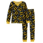 Toddler Boy Cuddl Duds DC Comics Batman 2-pc. Thermal Base Layer Top & Pants Set