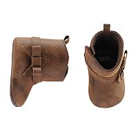 Baby Girl Carter's Bow Riding Boot Crib Shoes