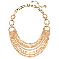 Dana Buchman Circle Link Swag Necklace
