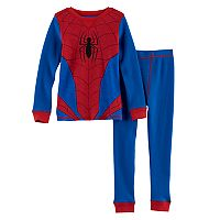 Toddler Boy Cuddl Duds Marvel Spider-Man 2 pc Thermal Base Layer Top & Pants Set
