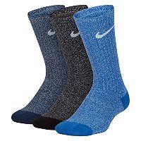 Boys 4-20 Nike 3-Pack Training Crew Socks