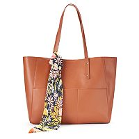 Mondani Kata Double Shoulder Tote with Scarf