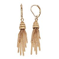 Dana Buchman Textured Tassel Nickel Free Drop Earrings