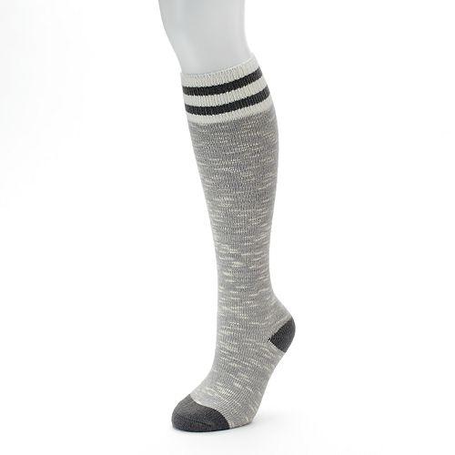 0a8e87e39f6 Women s SO® Marled Varsity Stripe Knee-High Socks