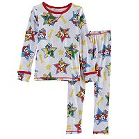 Toddler Boy Cuddl Duds 2 pc Paw Patrol Rubble, Marshall, Skye & Everest Base Layer Top & Pants Set