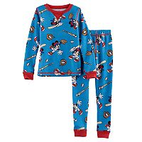 Disney's Mickey Mouse Toddler Boy 2 pc Baseball Thermal Base Layer Top & Pants Set by Cuddl Duds