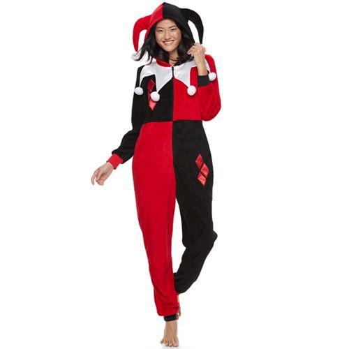 Juniors' DC Comics Harley Quinn One-Piece Pajamas