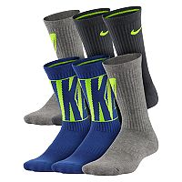 Boys 4-20 Nike6-Pack Training Crew Socks