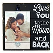 New View 'Love You' 4' x 6' Photo Clip Frame