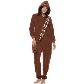 Juniors' Star Wars Chewbacca One-Piece Pajamas
