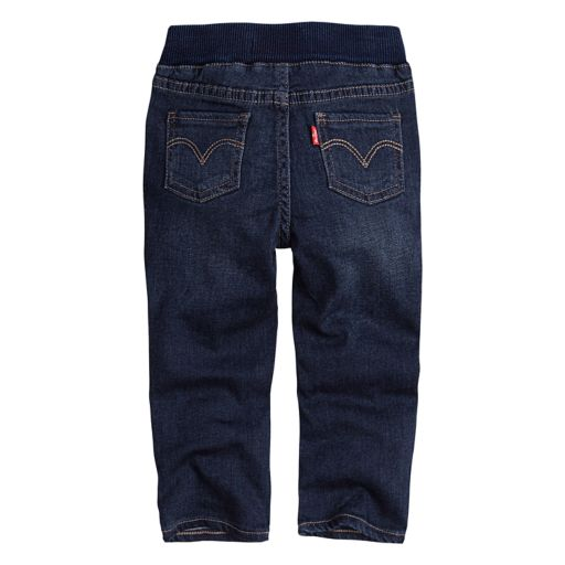 Baby Girl Levi's Ribbed Waistband Dark Wash Skinny Jeans