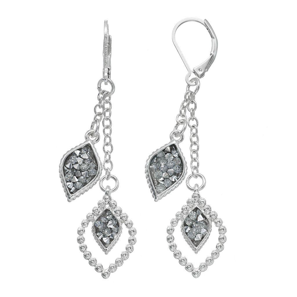 Dana Buchman Double Marquise Nickel Free Drop Earrings