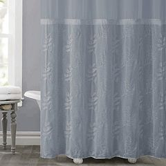 Hookless Palm Leaves Shower Curtain & Liner