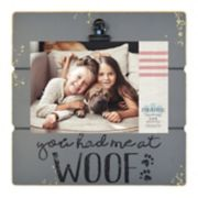 "New View ""Woof"" 4"" x 6"" Photo Clip Frame"