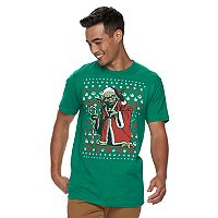 Men's Star Wars Yoda Santa Tee