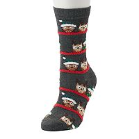 Women's Holiday Owl Socks