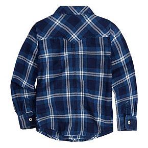 Toddler Girl Levi's Western Plaid Shirt